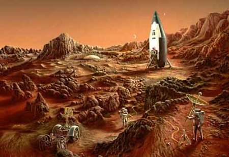 Mars Base by Don Dixon