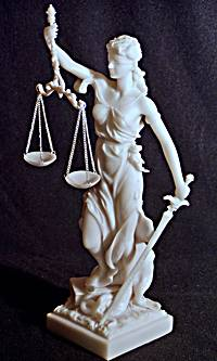 Goddess Themis Blind Justice