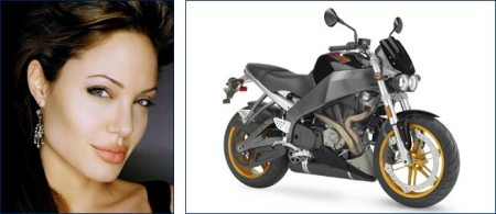 Buell Lightning and Angelina Jolie