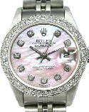 Lady's Diamond Rolex pink