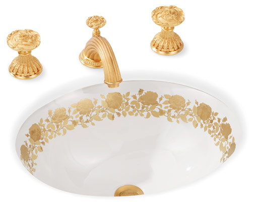 Sherle Wagner Gold Sink