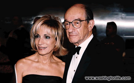 Andrea Mitchell and Alan Greenspan