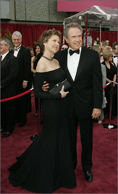 Annette and Warren Beatty
