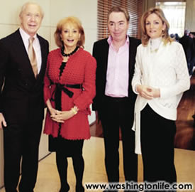 Barbara Walters and Peter Brown