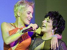 Sharon Stone and LizaMinelli