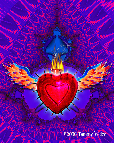 Flaming Heart by Tammy Wetzel