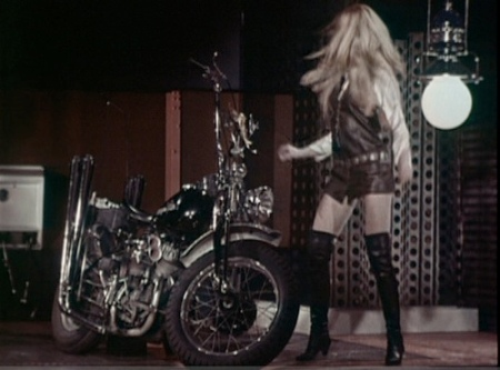 """SEX SYMBOL GIRLS"". Brigitte Bardot and Harley Davidson"
