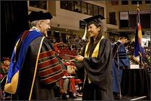 Michelle Kwan graduates from the University of Denver