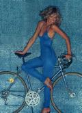 Farrah Fawcett blue