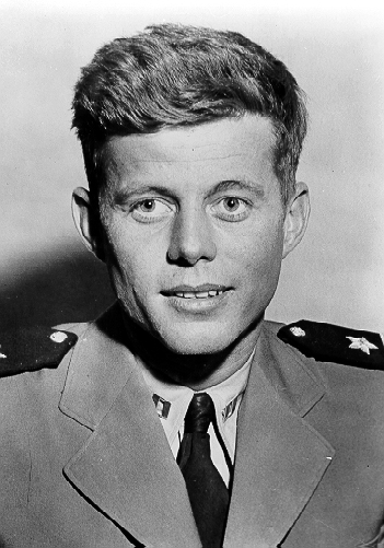 Young JFK in Navy Uniform