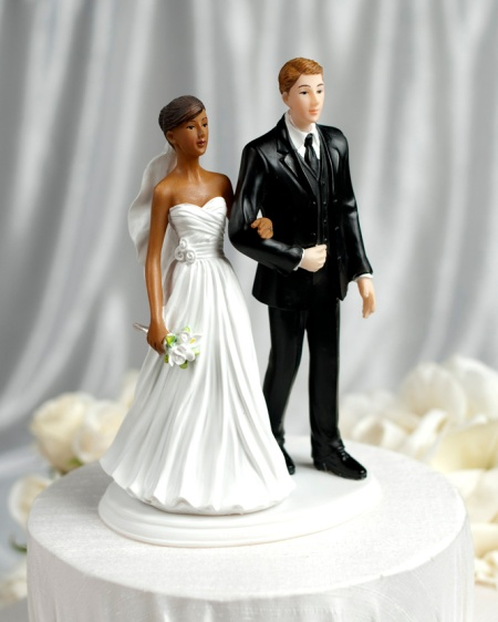 Renee  and Hubby On A Wedding Cake