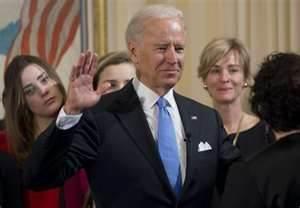 Vice President  Joe Biden sworn in Inaugural Day 2013