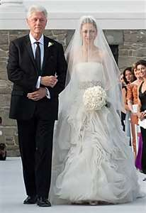 Chelsea Clinton Wedding Day with President Dad Bill