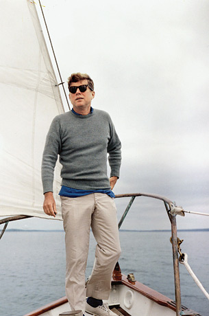 President Kennedy sailing on his yacht Honey Fitz 2