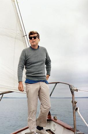 President Kennedy sailing on his yacht Honey Fitz 2