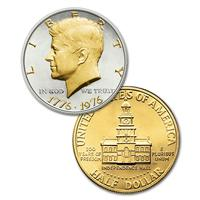 Silver and Gold Kennedy Half Dollars