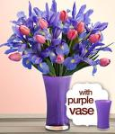 Pro Flowers Mothers Day Flowers with Purple Vase