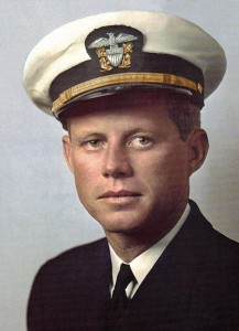 President John F Kennedy in the navy