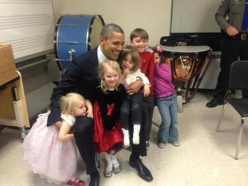 President Obama with children
