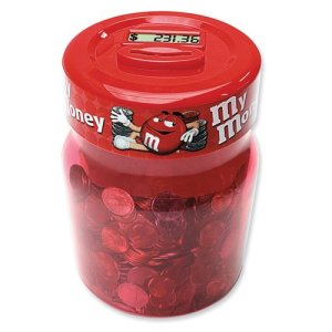 M M Digital Coin Counting Money Jar  at Amazon