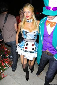 Paris Hilton sexy outfit for Halloween 2012