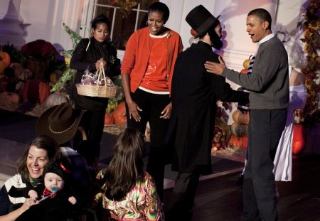 President and First Lady at Halloween 2012