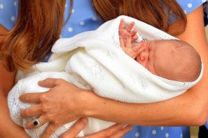 The Duchess holding baby Louie