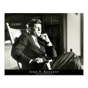 President John F Kennedy in Rocking Chair