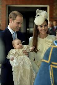 HRH William and HRH Kate and Baby Louie