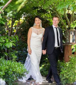 Mark Zuckerberg and new bride Priscilla
