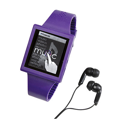 Poloroid Touch Screen 4GB Music Player with Watchband