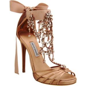 Tabitha Simmons wedding shoe gold