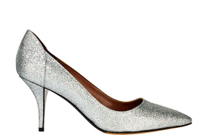 Tabitha Simmons wedding shoe silver