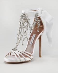 Tabitha Simmons wedding shoe white