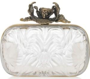 Alexander McQueen Iris Plexiglas Box Clutch 2295
