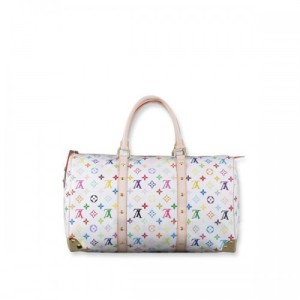 cheap_louis_vuitton_monogram_multicolor_white_keepall