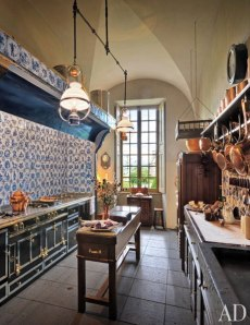 Country kitchen in Auvergne France