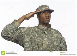black man saluting