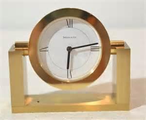 Tiffany & Co bronze swivel desk clock