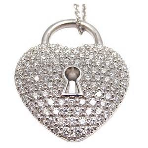 Tiffany & Co diamond heart lock pendant