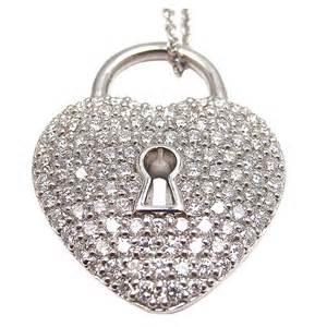 Tiffany & Co diamond heart lock pendant