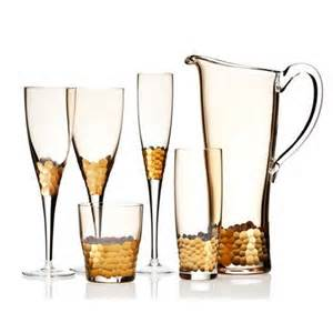Gold Paillette Stemware Bar by Kim Seybert