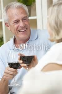 Man and Woman driking wine