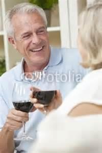 Man and Woman driking wine