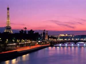 Paris France at night