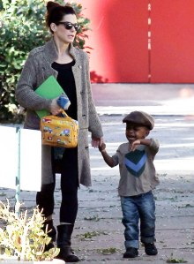 Sandra Bullock and son Louie 2014
