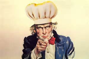 Uncle Sam in chef hat