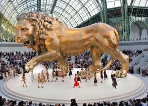 Chanel lion in Paris France
