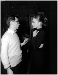 Audrey Hepburn with Richard Avedon in 1956