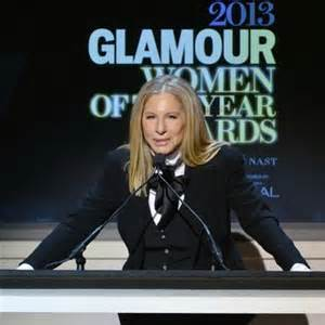 Barbra Streisand accepts award